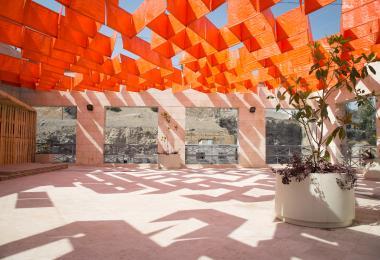 بناء الستائر التي صممتها دينا حدادين، من صنع زوايد