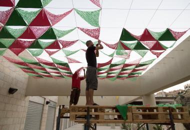 بناء الستائر التي صممتها دينا حدادين، من صنع كيس شيك
