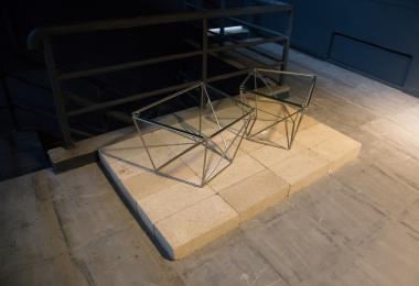 Wireframe Geometric Side Tables, 2016