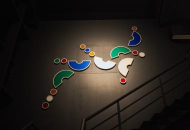 The Dancing Letters Wall Piece / Three Arabic letters: Baa, Taa & Thaa (2017)