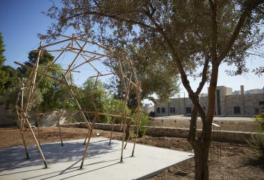 Reciprocal Frame Tensegrity Pavilion, 2019