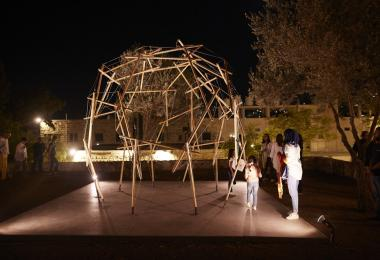 Reciprocal Frame Tensegrity Pavilion